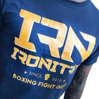 T-Shirt IRONITRO Boxing New Since 2019 blue