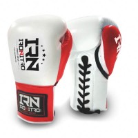 Guantoni Boxe IRONITRO K1 MAX White/Red 10 oz