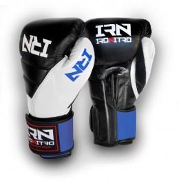 Boxing Gloves IRONITRO Tokio 2.0 Black/White/Blue 2020