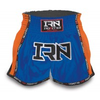 "Pantaloncini K1 Muay Thai IRONITRO ""LASER BLUE ORANGE """