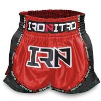 "Pantaloncini K1 Muay Thai IRONITRO ""NITROFUEL RED to RED"""