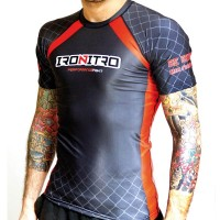 Rashguard Red MMA Grappling 2.0 IRONITRO CAGE FIGHT