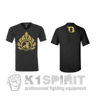"T-shirt Booster ""TEE BLACK GOLD"""