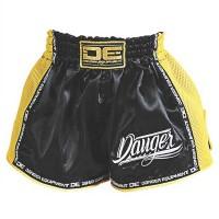 Pantaloncini bambino - ragazzo Nero giallo Muay Thai DE