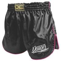 Pantaloncini Muay Thai Ragazza DE Nero/Rosa DERSN
