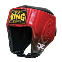 Casco Top King DE COMPETITION Pelle Made in Thai Rosso