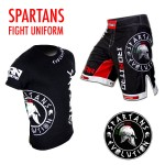 KIT SPARTANS Divisa Pantaloncini T-shirt Ironitro Kick Boxing