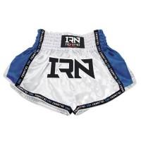 "Pantaloncini K1 Muay Thai IRONITRO ""Laser"" White Blu"