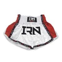 "Pantaloncini K1 Muay Thai IRONITRO ""Laser"" White red"