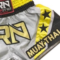 "Short K1 Muay Thai IRONITRO ""Stars thai GREY"""
