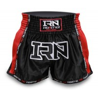 "Pantaloncini K1 Muay Thai IRONITRO ""Laser"" BLACK TO RED 2.0"