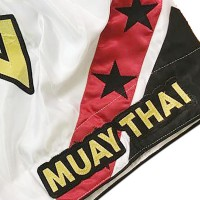 "Short K1 Muay Thai IRONITRO ""STARS THAI WHITE"""